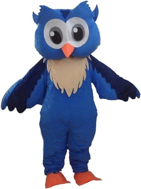 Langteng Azul búho Disfraz de Mascota carácter Adulto Sz Cartoon ...