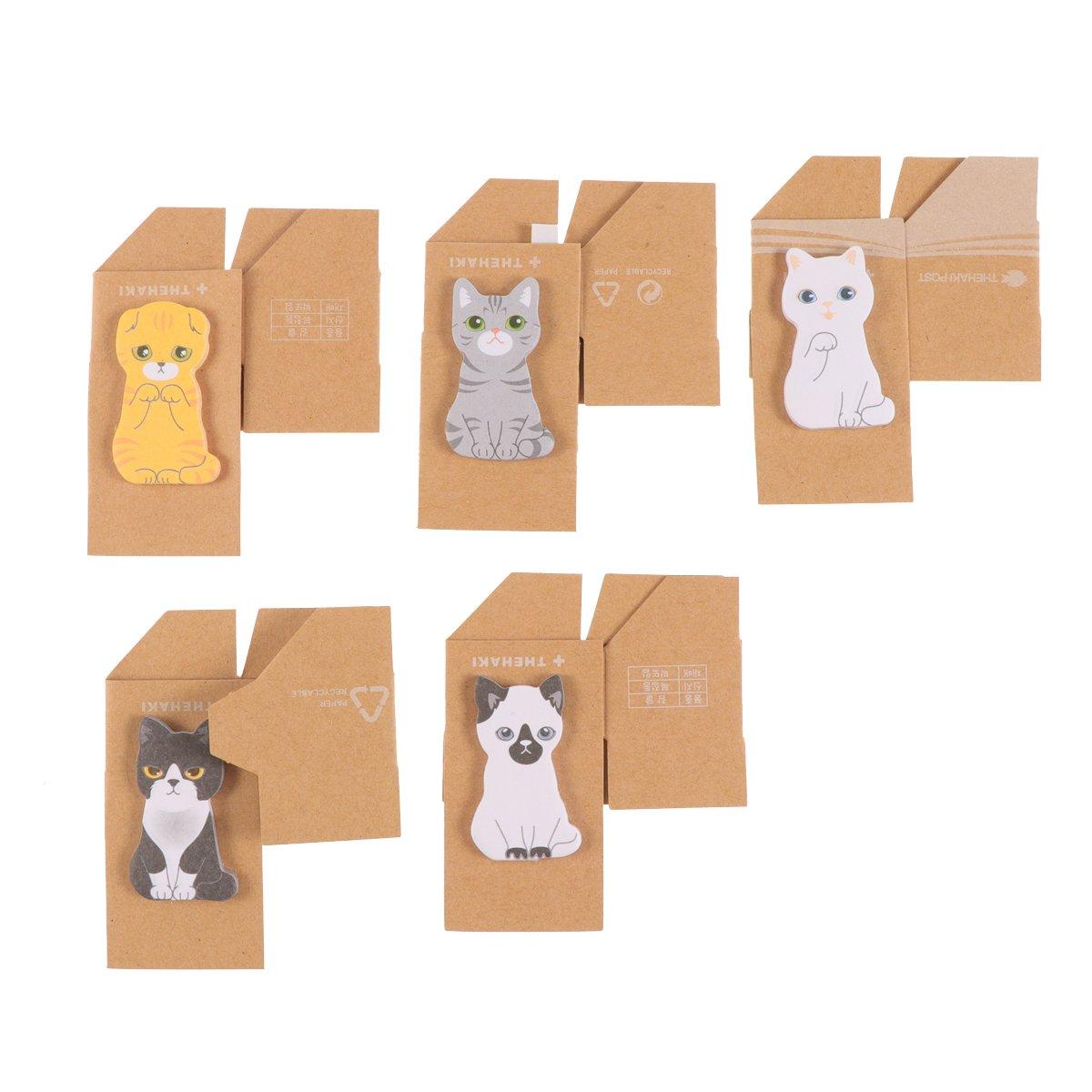 Segnapagina adesivo NUOLUX Segnapagina a forma di gatto con scatolina (5PCS)