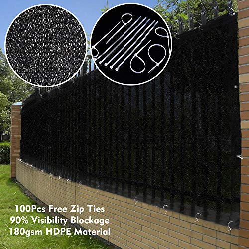 Cheap Yescom 50×6′ Privacy Fence Screen Fabric Mesh Netting 180gsm Virgin HDPE Windscreen for Outdoor 6 ft Fencing Black