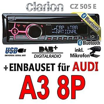 Audi A3 8p Clarion Cz505e Bluetooth Dab Digital Autoradio