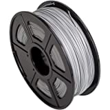 CC DIY - PLA 3.00mm 3D Printer Filament 1kg Spool Dimensional Accuracy +/- 0.02 mm (Silver)