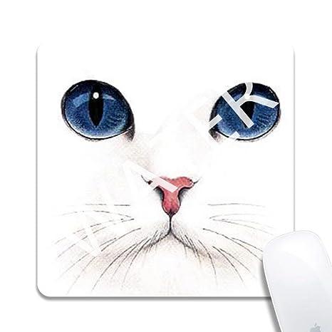 Alfombrilla de Ratón de Juego Gato Gato,Mouse Pad Mat Tela Base de Caucho Compatible