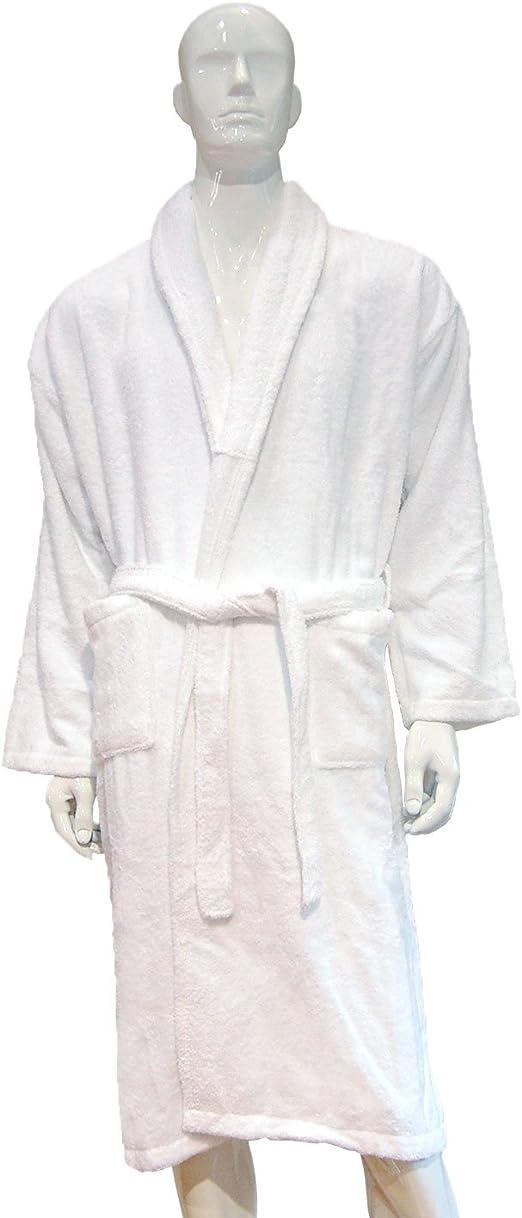 BgEurope Pack 5 albornoz blanco para hotel y spa, 100% algodón ...