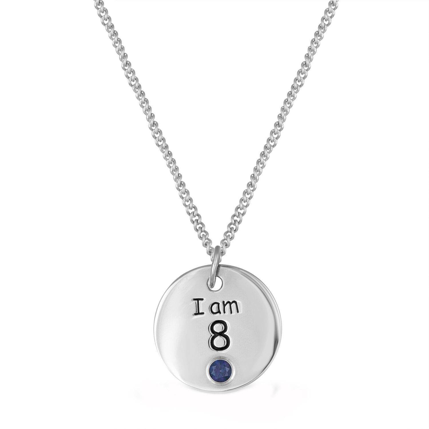 64a9695e53c3b Esty & Me Sterling Silver Necklace with Swarovski Simulated ...