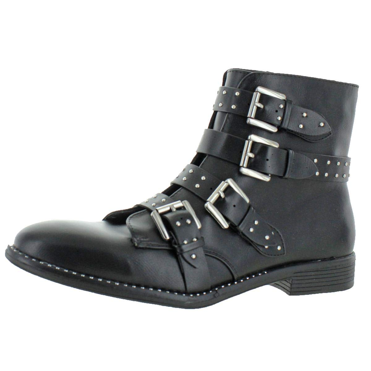 fd5bb6c85f5 Amazon.com | Steve Madden Womens Reena Studded Bootie Ankle Boots ...