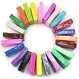 Sonline Colore misto 24 Morbido Sculpey Forno Cuocere polimero Modellazone Blocchi