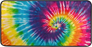 ATONO Colorful Abstract Tie Dye Art Pattern Kitchen Floor Mats Carpet Rugs Rectangle 39''X20'' Non-Slip Ployester Home Decor Runner Area Rug for Kitchen and Bathroom Livingroom