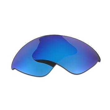 b565ea188d HKUCO Plus Replacement Lenses For Oakley Flak Jacket XLJ Sunglasses Blue  Polarized  Amazon.co.uk  Sports   Outdoors