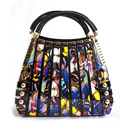 BRAVOHANDBAGS-Womens-Irina-Night-Butterfly-Print-Handbag-Medium
