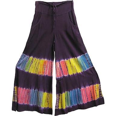 3babe94aae875 Yoga Trendz Missy   Plus Size Indian Tie-Dye Bohemian Wide-Leg Palazzo Long