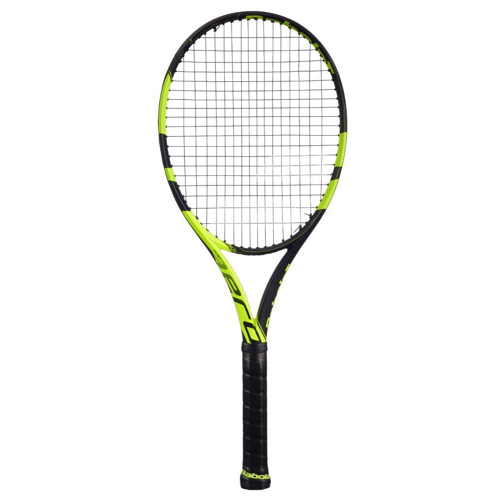 Babolat Pure Aero Yellow Black Tennis Racquet, 4 1 4 Grip