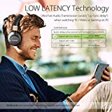 Avantree 40 hr Wireless Bluetooth 4.1 Over-the-Ear Foldable Headphones / Headset with Mic, APTX LOW LATENCY Fast Audio for TV, PC Gaming, with NFC, Wired mode - Audition Pro [2-Year Warranty]