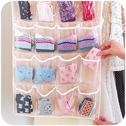 Inspiration 16 Pocket Hanging Closet Organizer Jewelry And