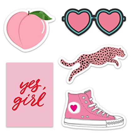 Cute Pink Vinyl Laptop And Water Bottle Decal Sticker Pack Made In Us Pink Aesthetic