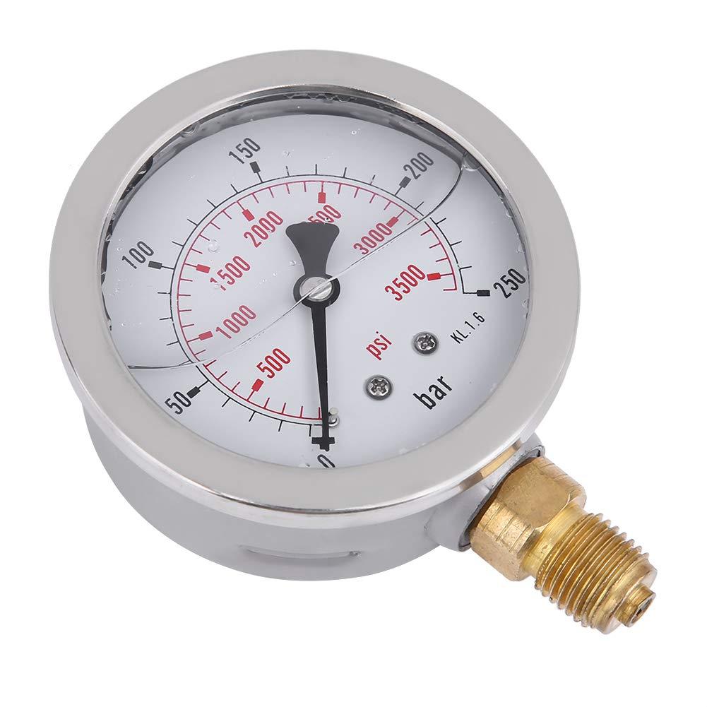 Cosiki Manometer 0~250BAR//3600PSI Manometer 1,5-Meter-Schlauch Hydraulikschlauch-Testpunktkupplung M16 * 2-BSP1//4