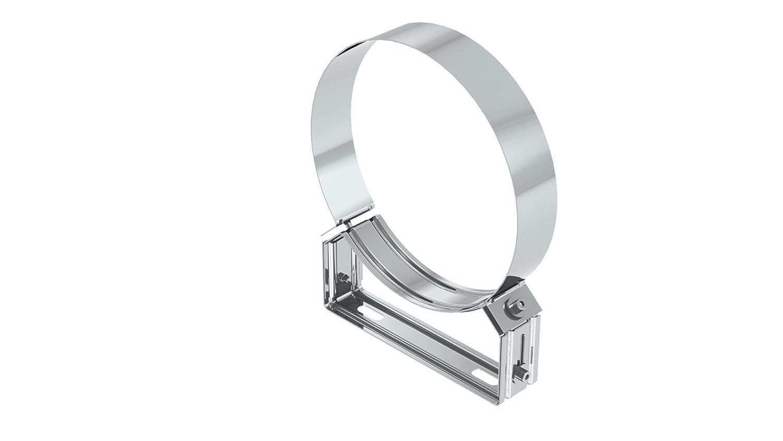 Edelstahl und Deckenabstandshalter starr 50mm f/ür doppelwandige Schornsteine DW; /Ø 130mm Innendurchmesser Wand