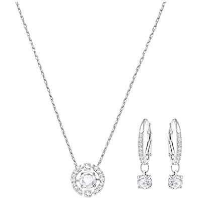 e2435e9a8 Amazon.com: Swarovski Sparkling Dance Round Set, Necklace, Earrings ...
