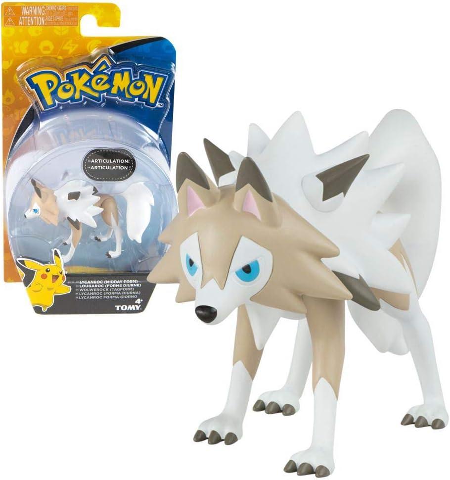 Tomy Selección Figuras del Juego | Pokemon | Articulaciones móviles | Acción, Figuras del Juego:Lycanroc (Forma Diurna): Amazon.es: Juguetes y juegos