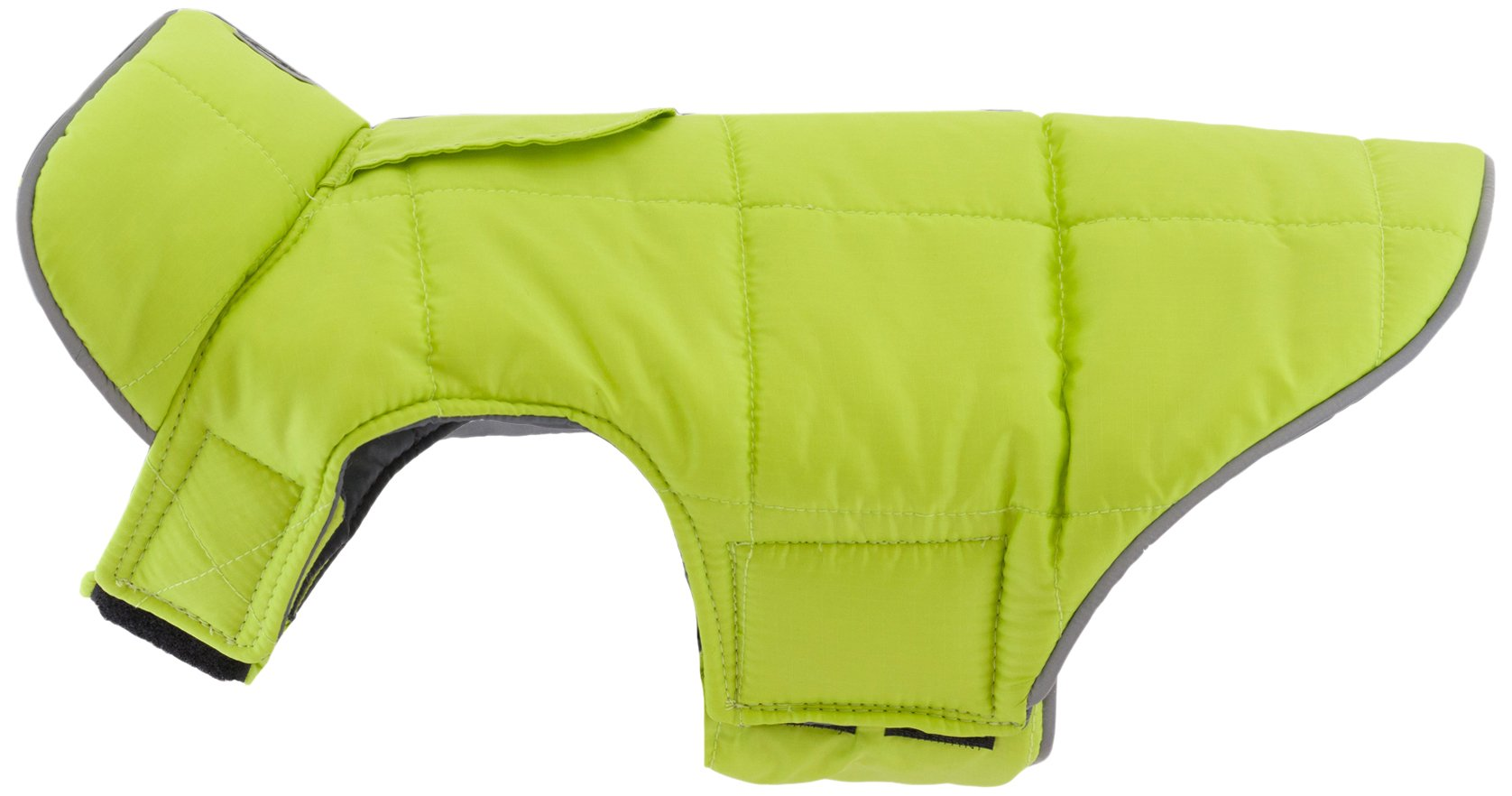 RC Pet Products Skyline Puffy Vest, Reflective, Water-Repellent, Reversible Dog Coat, Size 26, Lime/Charcoal