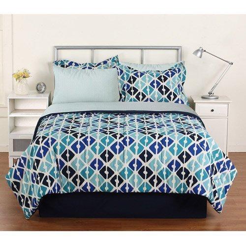 Keeco Quatrefoils Complete Bed in a Bag Comforter & Sheet Set, Queen, 8 Piece