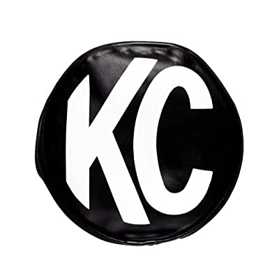 "KC HiLiTES 5400 5"" Round Black Vinyl Light Cover w/ White KC Logo - Set of 2: Automotive"
