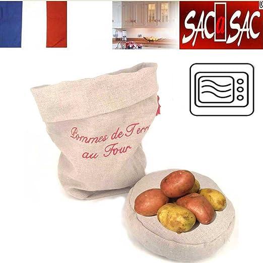 Bolsa para Patatas 100% Lino - Mantiene el calor del cojin ...
