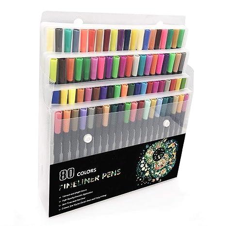 marcadores doble punta 80 colores arte dibujo pintar plumón colorear rotuladore