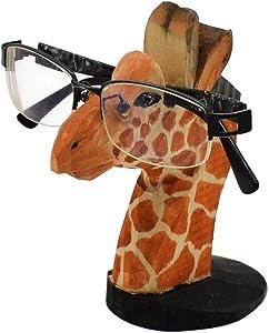 VIPbuy Handmade Wood Carving Eyeglasses Spectacle Holder Stand Sunglasses Display Rack Home Office Desk Décor Gift (Giraffe)