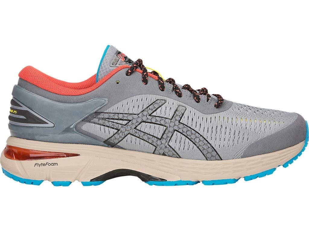 ASICS Men's Gel-Kayano 25 Running Shoes, 8M, Stone Grey/Black