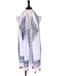 T.Mullen Femme Echarpes Doux longue écharpe Mesdames châle Foulards Motif  de Fleurs adc02d6e516