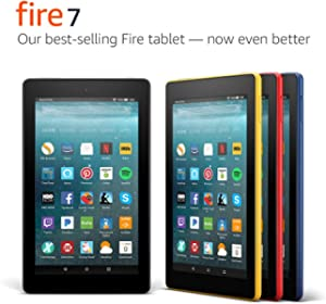 """Fire 7 Tablet (7"""" display, 8 GB) - Black - (Previous Generation - 7th)"""