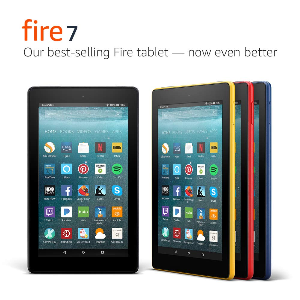 "Fire 7 Tablet (7"" display, 16 GB) - Red - (Previous Generation - 7th)"