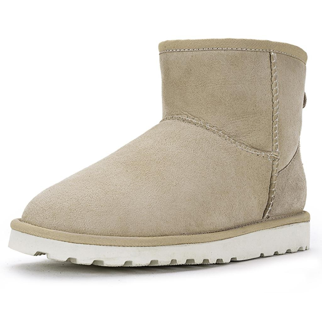 White LIUshoes L&L Female Autumn and Winter Snow Boots Thicker Keep Warm Flat Boots