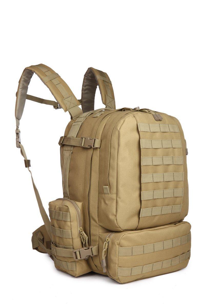 50 - 60 LスポーツアウトドアMilitary Rucksacks Tactical MolleバックパックキャンプハイキングトレッキングAssault 3-daysバックパックバッグ08007 B01FT5RS9G コヨーテ