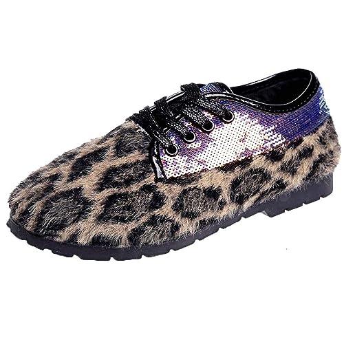Yvelands Damen Mode Leopard Frauen Schuhe Peas Schuhe Plüsch
