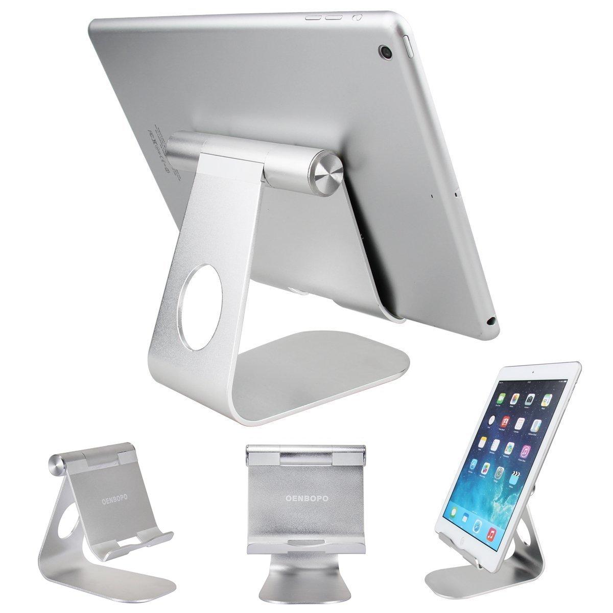 Tablet Stand Holder , Oenbopo iPad Stand 270° Rotatable Aluminum Desktop Tablet Holder Stand for iPad Pro iPad Mini iPad Air iPhone X/8/7/7Plus 6S Plus 5S 5C Samsung S6 S5 GPS