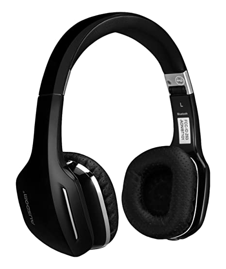 8ecde5a2d86 Image Unavailable. Image not available for. Color: Ausdom M07 On-Ear  Wireless Bluetooth Headphones with Microphone Foldable and Lightweight ...