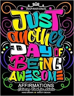 Amazoncom Inspirational Affirmations Coloring Books Motivation