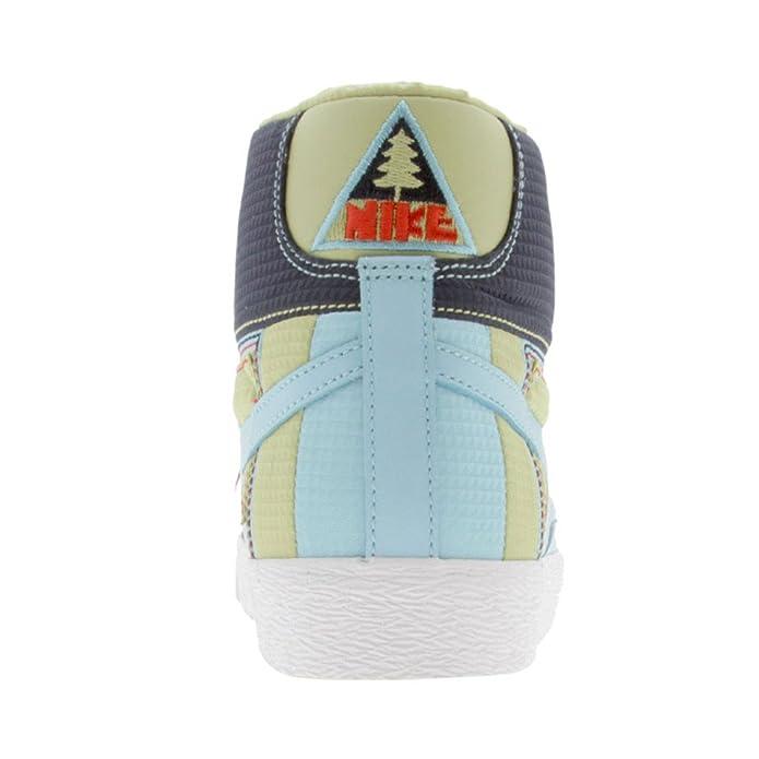 Nike Blazer Pour Femme Mid Premium Cuir à Lacets Appartements - Bleu - Powder Blue/Pwdr Bl-Wht-CMT Rd Sast Vente Pas Cher 5Tuvn,