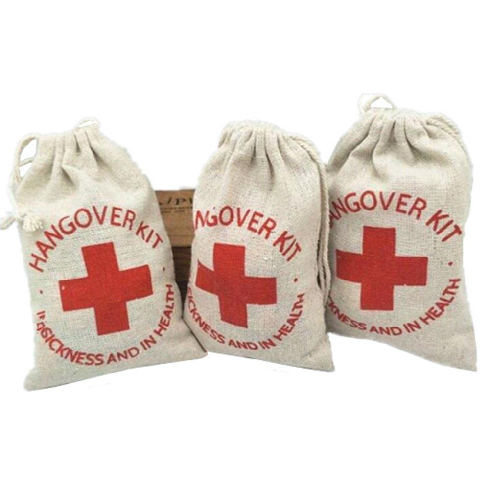 OZXCHIXU 20pcs Cotton Muslin Wedding Party Favor Bags 4x6 inch RED Glitter Cross Bachelorette Hangover Kit Bags Recovery Kit Bags Survival Kit Bags Cotton Muslin Drawstring Bag