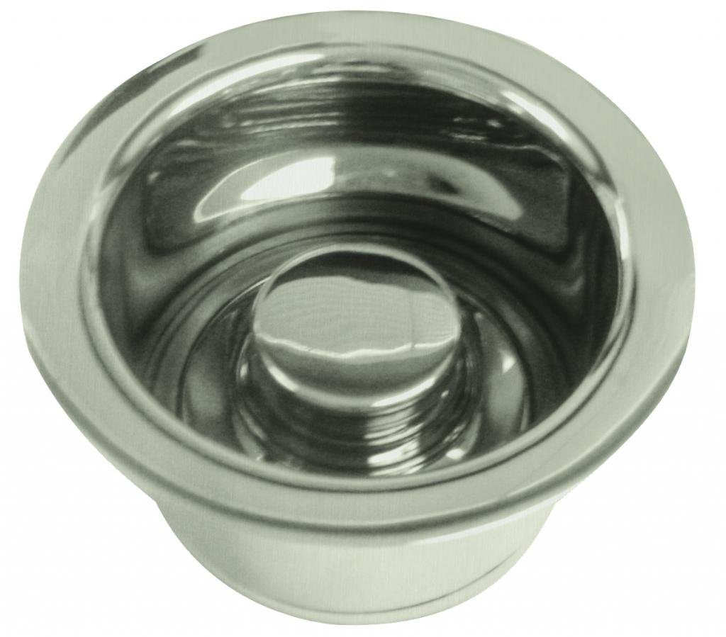 InSinkErator Style Extra-Deep Disposal Flange and Stopper in Satin Nickel