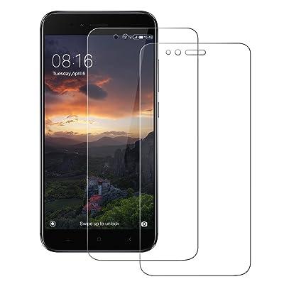2-Unidades Cristal Templado Xiaomi Mi A1 / Xiaomi Mi 5X, POOPHUNS Protector de Pantalla Xiaomi Mi A1 / Xiaomi Mi 5X, Cristal Vidrio Templado Premium para Xiaomi Mi A1 / Xiaomi Mi 5X, 9H Dureza, Resistentes a los Golpes, No se