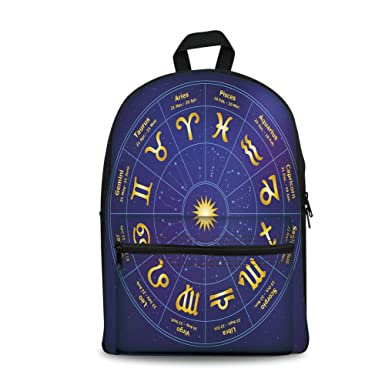 Design The Fashion Fo Kids Back To School Backpack Canvas Book BagAstrology