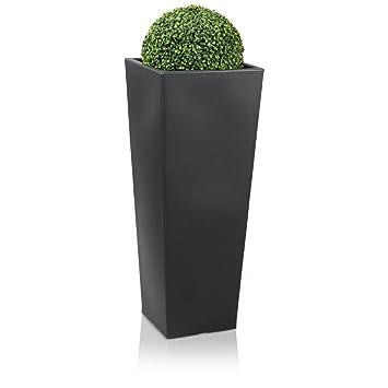Pflanzkübel Blumenkübel CONO PLAZA 100 Kunststoff, 40x40x100 cm ...