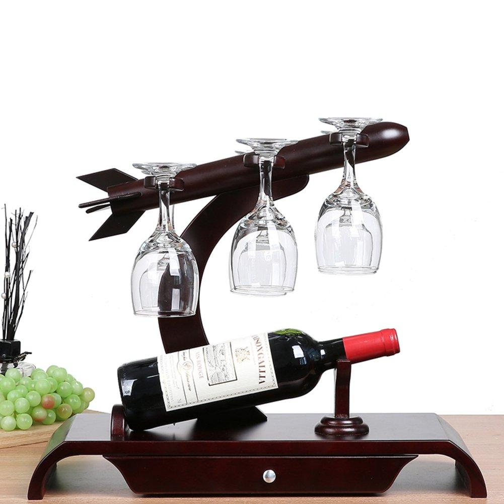 TY&WJ 木質 ワインボトル ホルダー 家計] 装飾] シニア ワイン棚 ワイン ラック レストラン] バー パブ ワインの表示 スタンド プレゼント-B B07DDH35FJ B B