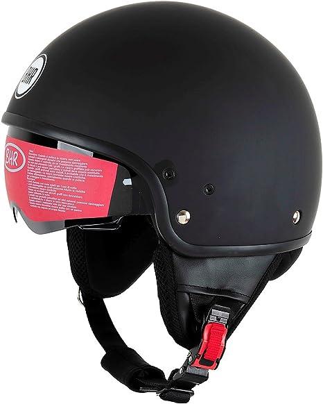 CASCO MOTO BHR DEMI-JET MOD PURE 802 COLORE NERO OPACO TAGLIA XL