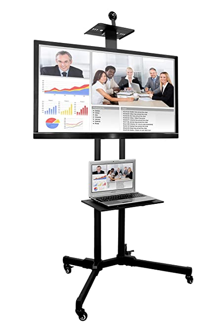 Amazoncom Mount It Mi 876 Tv Cart Mobile Tv Stand Wheeled Height