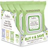 Babo Botanicals Swim & Sport 3-in-1 Face, Hand & Body Wipes with Natural Cucumber and Aloe Vera, Hypoallergenic, Vegan, 30 Co