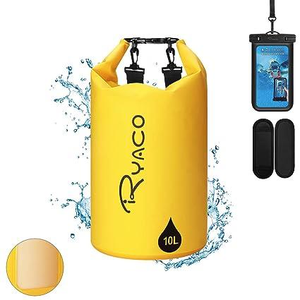 Ryaco Premium Bolsa estanca 20L Impermeable Seca PVC- Set de ...