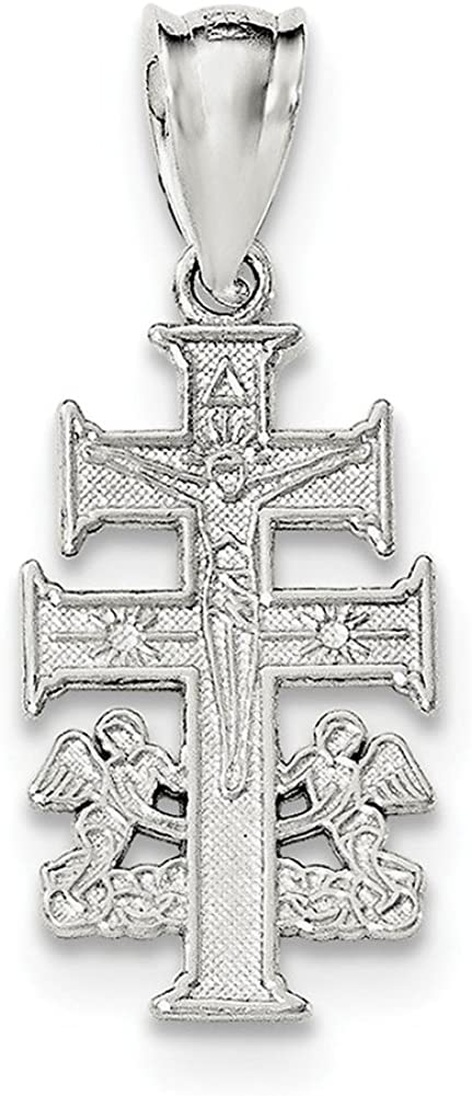 Lex /& Lu Sterling Silver Diamond Cross Pendant